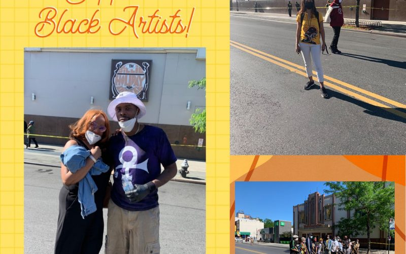 black lives matter mural, facebook, social media, cover photo